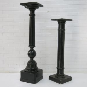 Ebonised pedestals / torcheres