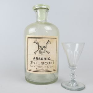 Arsenic bottle & glass