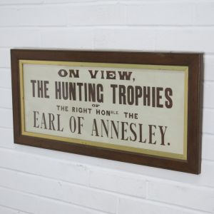 Hunting trophy sign