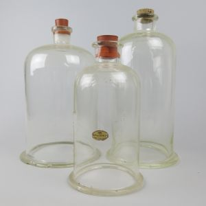 Laboratory bell jar covers x 3