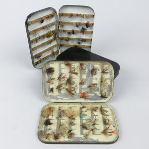 Fishing fly tins & flies